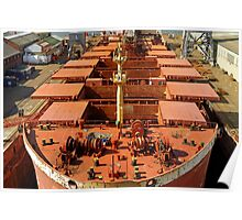 Deck of Gypsum Integrity, Falmouth Docks Poster
