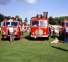 Old fire engines at York Rugby Club by MayWebb