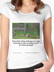 Bedtime Stories for 13 Goslings... Women's Fitted Scoop T-Shirt
