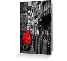 Vespa City Life Greeting Card