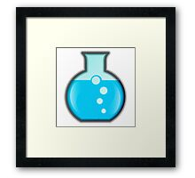 Cartoon Science Beaker Framed Print