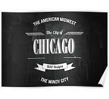 Chicago - The Vintage Windy City Typography Poster Poster
