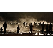 Steaming Silhouettes Photographic Print