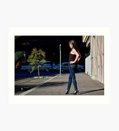 Fashion shot Chloe Jane Street Location Aspect 2 Art Print