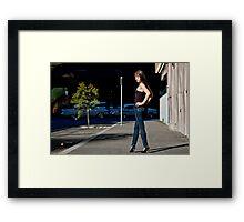 Fashion shot Chloe Jane Street Location Aspect 2 Framed Print