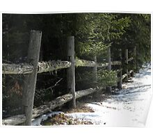 The Old Country Fence Poster