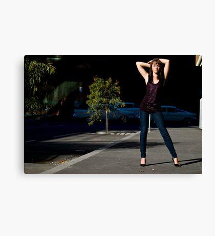 Fashion shot Chloe Jane Street Location Aspect 3 Canvas Print