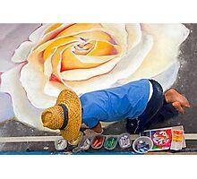 Imadonnari Italian street painting festival.  Santa Barbara, California Photographic Print