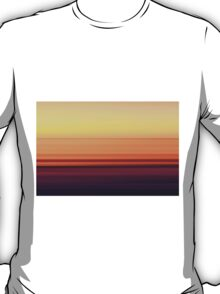 North Sea in sunset colors T-Shirt