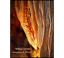 """Behind Curtians   """"Caverns Series"""" Photographic Print"""