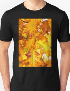 autumn foliage from a red oak Unisex T-Shirt