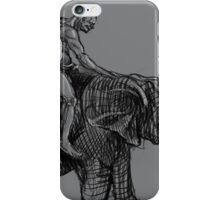 Man and Elephant. iPhone Case/Skin