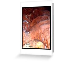 "Cascade     ""Caverns Series"" Greeting Card"