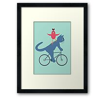 Three On A Bike - Ta Da! Framed Print