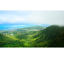 View of Oahu Photographic Print