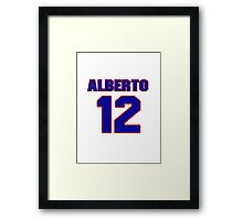 National baseball player Alberto Gonzalez jersey 12 Framed Print