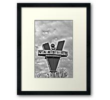 varsity black and white Framed Print