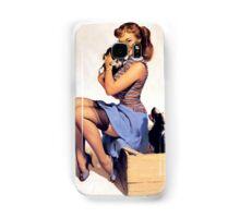 Gil Elvgren pin up with Puppies! Samsung Galaxy Case/Skin