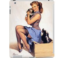 Gil Elvgren pin up with Puppies! iPad Case/Skin