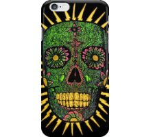 green floral skull iPhone Case/Skin