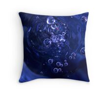 bubbles in the basin Throw Pillow