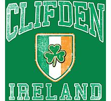 Clifden, Ireland with Shamrock Photographic Print