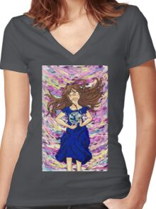 World of color w/o ribbon Women's Fitted V-Neck T-Shirt