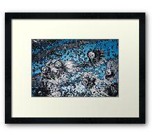 Impact #4 - Blue Framed Print