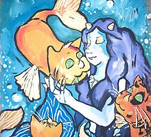 Cat Lady of the Sea by HeartBlossoms