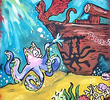 Pigcowtopus! Under the Sea by HeartBlossoms