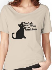 Pro-cats Pro-choice Pro-feminism Women's Relaxed Fit T-Shirt