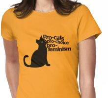 Pro-cats Pro-choice Pro-feminism Womens Fitted T-Shirt