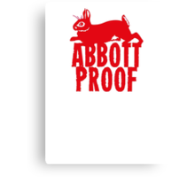 Abbott Proof Red Canvas Print