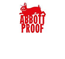 Abbott Proof Red Photographic Print