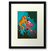 A Girl and her Eel Framed Print