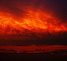 Burning Mammatus by Brian Barnes StormChase.com