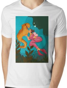 A Girl and her Eel Mens V-Neck T-Shirt