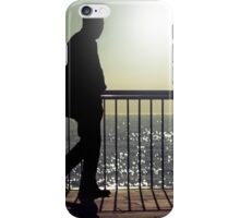 Dark silhouette of a walking man  iPhone Case/Skin