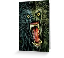 AN AMERICAN WEREWOLF IN LONDON Greeting Card