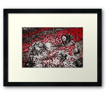 Impact #4 - Red Framed Print