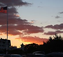 Flag At Sunset by SEA123