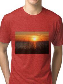 Sunset on the Beach Tri-blend T-Shirt
