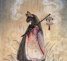 Bad Thoughts - Kitsune Fox Yokai  by TeaKitsune