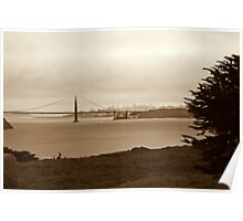 The Fog Lifts Above the Golden Gate Bridge Poster