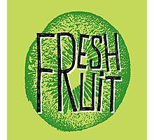 Kiwi fresh fruit illustration  Photographic Print