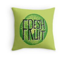 Kiwi fresh fruit illustration  Throw Pillow