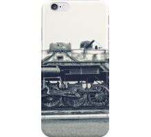 Steam Locomotive in Black and White iPhone Case/Skin
