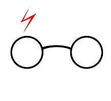 Harry Potter Glasses and Scar by thomparrish