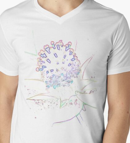 Abstract Flower in pastel Mens V-Neck T-Shirt