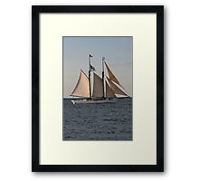 Wintry Sail Framed Print